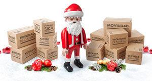 Papá Noel viene cargado de regalos…