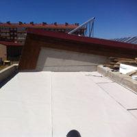 Impermeabilización de cubiertas en Piscina Mpal cubierta de Aranda de Duero