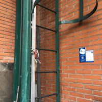 Instalación de líneas de vida de la fabrica de FERROLI de Burgos