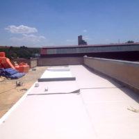 Restauración de cubierta Invertida GR en I.E.S. La Bureba de Briviesca – Burgos