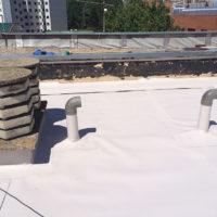 Restauración de cubierta Invertida GR en I.E.S. Comuneros de Castilla de Burgos