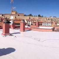Restauración de cubierta de intemperie en C.P. Dr. Sancho 2 de Segovia