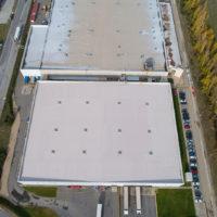 Impermeabilización de cubiertas en fabrica de Castilla y León de importante multinacional