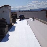 Ejecución de cubierta Invertida LF e instalación de Linea de Vida en C.P. Conde Sepulveda 24 de Segovia