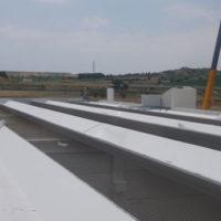 Ejecución de cubierta en naves industriales del nuevo Poligono Prado Marina en Aranda de Duero
