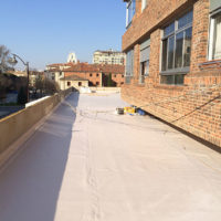Impermeabilización de cubierta en C.P. Urbanización Bernardas