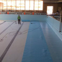 Impermeabilización en Piscina Mpal cubierta de Aranda de Duero