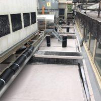 Impermeabilización de cubiertas en fabrica Mahou-San Miguel en Burgos