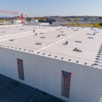 Impermeabilización de cubiertas en multinacional alemana del sector cosmetico en Tres Cantos – Madrid