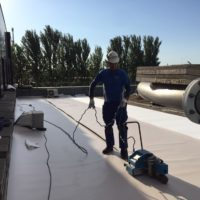 Impermeabilización de cubiertas en fabrica Pepsico-Matutano en Burgos